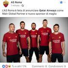 Qatar Airways nuovo main sponsor dell'As Roma, il debutto domani con il Liverpool