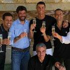 Il brindisi tra Ronaldo e Agnelli Foto