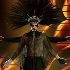 Sanremo 2020, Achille Lauro look ultima serata: «Questa notte morirò per il mio popolo...»