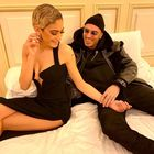 Sanremo 2020, Elodie festeggia in camera con il fidanzato Marracash
