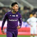 Fiorentina-Milan 1-1, la Viola in dieci uomini pareggia su rigore