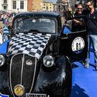 Trionfo della Fiat 508C del 1939 di Moceri-Bonetti al 28° GP Nuvolari. Sul podio Alfa 1750 SS e un'altra 508C