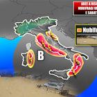 Le previsioni Ancora maltempo in tutto il Centro-Sud. Domani piogge a Roma, «fino a 60 litri per metro quadro»