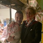 Rod Stewart festeggia la vittoria del suo Celtic sulla Lazio: eccolo nel ristorante dello chef GIuseppe Di Iorio