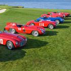 Ferrari in passerella a Pebble Beach, le regine dei 70 anni sfilano in California